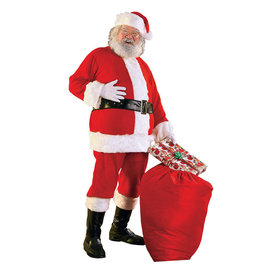 Regal Plush Santa Suit with Wig and Beard