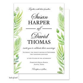 Bonnie Marcus Collection Personalized Regal Greenery Wedding Invitation