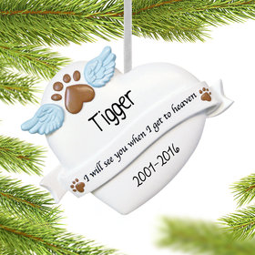 Personalized Pet Memorial Heart