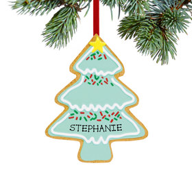 Personalized Christmas Tree Cookie