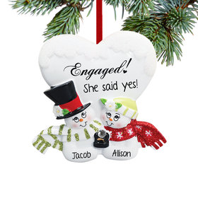 Personalized Engaged Snowman Couple