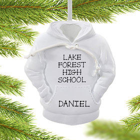 Personalized White Hoodie