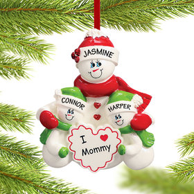Personalized I Love Mommy 2 Children