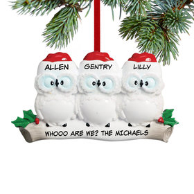 Personalized Wise Owl Family of 3