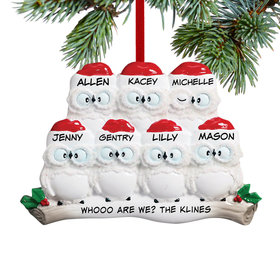 Personalized Wise Owl Family of 7