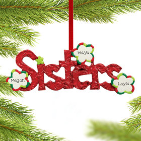 Personalized Sisters Word for 2 or 3 sisters