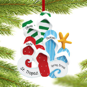 Personalized Flip Flops Family of 3