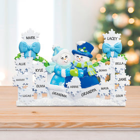 Personalized Snowflake Gate with 13 Snowflakes (Blue)
