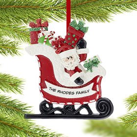 Personalized Santa in Sleigh