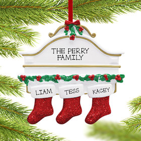 Personalized Stockings Hanging From Mantel 3