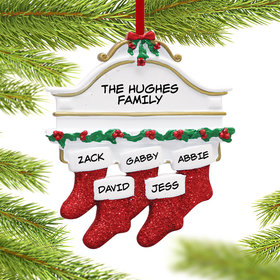 Personalized Stockings Hanging From Mantel 5