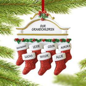 Personalized Stockings Hanging From Mantel 7