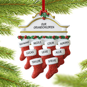 Personalized Stockings Hanging From Mantel 9