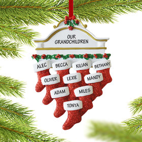 Personalized Stockings Hanging From Mantel 10