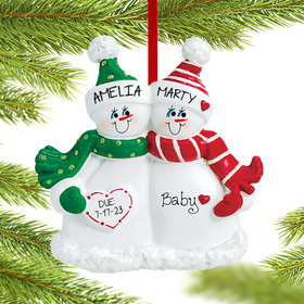 Personalized Expecting Snow Couple