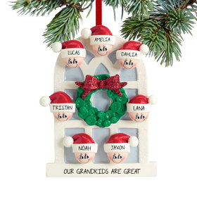 Personalized Christmas Window Family of 7