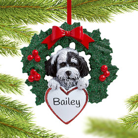 Personalized Havanese Dog with Wreath