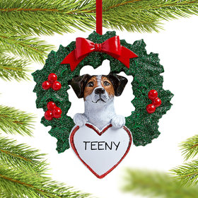 Personalized Jack Russell Dog with Wreath