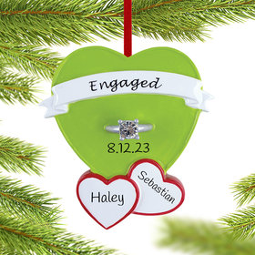 Personalized Engagement Ring in Heart