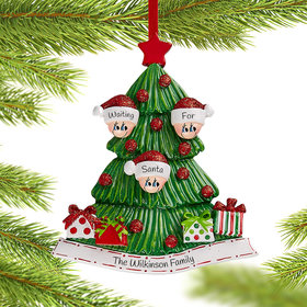 Personalized Tree Family of 3 Christmas