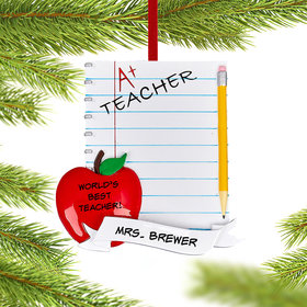 Personalized Teachers Notebook Christmas