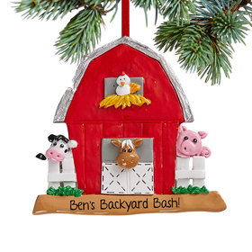 Personalized Barn Christmas