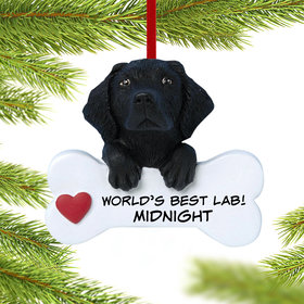Personalized Black Labrador Retriever Christmas