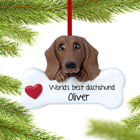 Personalized Dachshund Christmas