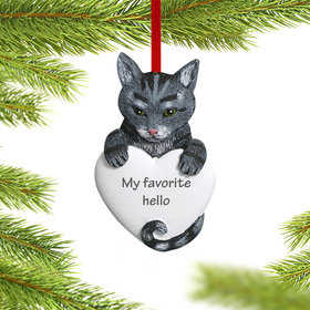Personalized Gray Tabby Cat