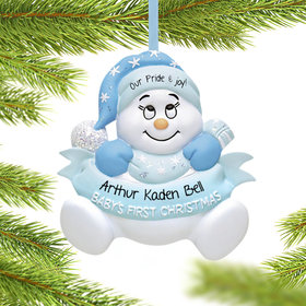 Personalized Snow Baby First Christmas Boy