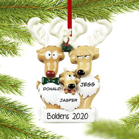 Personalized Reindeer Family 3