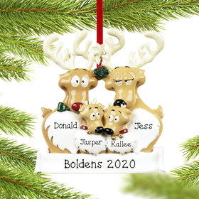 Personalized Reindeer Family 4