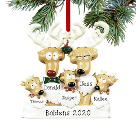 Personalized Reindeer Family 5