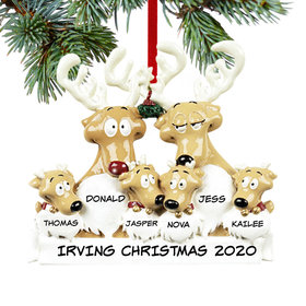 Personalized Reindeer Family 6