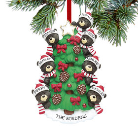Personalized Black Bear Tree Family 7