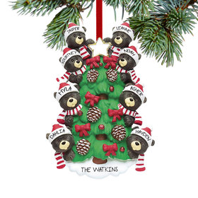 Personalized Black Bear Tree Family 8