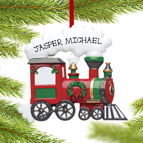 Personalized Red Christmas Train Engine