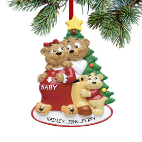 Personalized Expecting Bear Family of 3