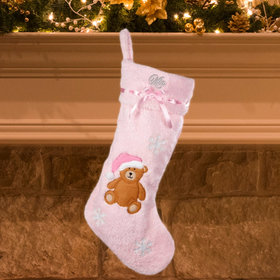 Personalized Girl Baby's First Christmas Stocking