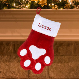 Personalized Paw Print Stocking