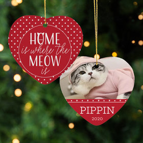 Personalized Cat 'Home is Where the Meow is'