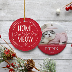 Personalized 'Home Is Where The Meow Is'