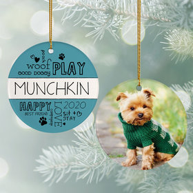 Personalized 'Woof Play Good Dog'