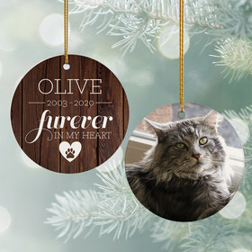 Personalized 'Furever In My Heart' Cat Memorial