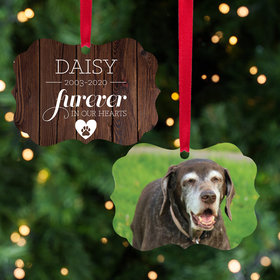 Personalized Furever in Our Hearts Christmas Ornament - Dog