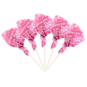 Bubble Gum Dum Dums Light Pink Party Pops