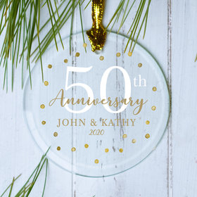 Personalized Gold Dots 50th