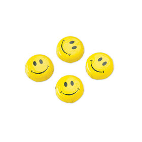 Solid Milk Chocolate Foiled Smiley Face Discs Yellow