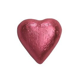Bright pink Solid Milk Chocolate Foiled Hearts