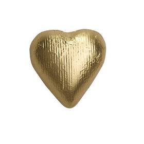 Gold Solid Milk Chocolate Foiled Hearts